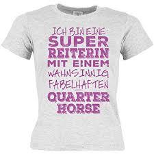 Pferde Kinder T Shirt Quarter Horse Pferde Motiv Mädchen Pferd