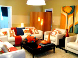 Orange Color For Living Room Living Room Foxy Living Room With Modern Orange Color Scheme And