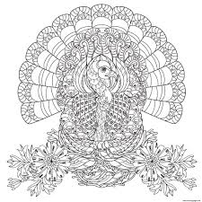 Adult Thanksgiving Turkey Coloring Pages Printable