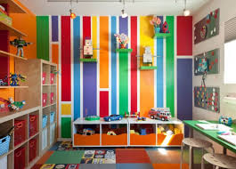 View in gallery Bright and vibrant kids' playroom sports a colorful look