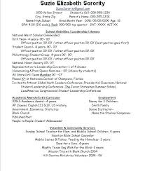 Sample Sorority Resume Sorority Resume Examples Letters Meaning In Math Dental Office 90