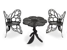 wrought iron furniture indoor. black butterfly bistro set flowerhouse wrought iron furniture indoor g