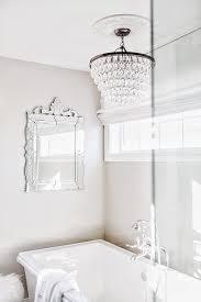 clarissa crystal drop round chandelier over bathtub