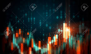 Code Stock Chart Creative Glowing Blurry Forex Chart Background With Binary Code