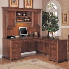 computer hutch home office traditional. Corner Computer Desk With Hutch For Home Office Design: Traditional A