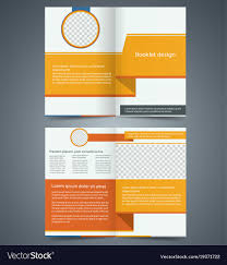 Foldable Brochure Template Free Yellow Bifold Brochure Template Design