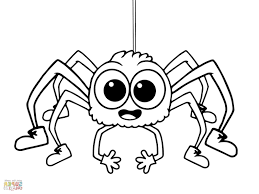 Incy Wincy Spider Coloring Page From