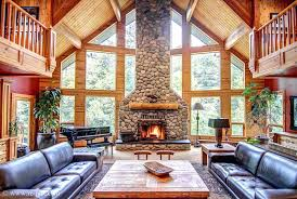 building a rock fireplace contemporary living room with stone river exposed beam images riv faux river rock fireplace