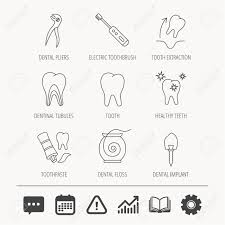 Electric Toothbrush Comparison Chart Tooth Extraction Electric Toothbrush Icons Dental Implant