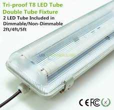 Dust Proof Led Lights Led Tube With Tri Proof Fixture Waterproof Dustproof And