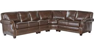 2 388 00 frankford chocolate brown 4 pc leather sectional traditional
