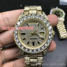 Luxury Dhgate Steel All Online 287 Full 31 Gold Case Day Mens Iced Watch Buy Out Watches Factory 43mm Shopping Stainless Date From Works watches Wristwatch com Diamonds Wrist Automatic