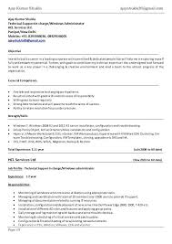 Hadoop Admin Resume Server Administrator Resumes Fresher Sample