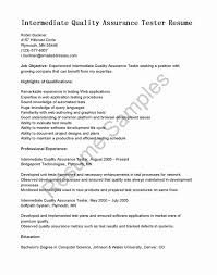 Inspirational Quality Assurance Technician Sample Resume Resume