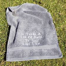 duncan stewart textiles personalised egyptian cotton golf towel