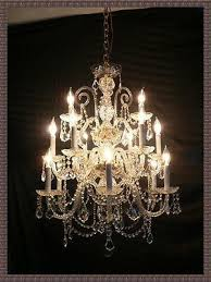 amazing 3 tier italian vintage venetian crystal chandelier 18 arms 15 lights 440245200