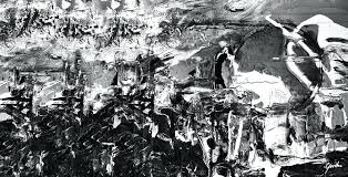 black and white modern painting army of men contemporary black and white abstract art painting by black and white modern painting black white art