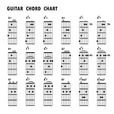 Guitar Chords Chart Design Vector 04 Free Download