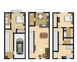 3 Bedroom Executive Townhouse  Vista Cay ResortTownhomes Floor Plans