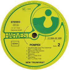 Vinyl Album - New Triumvirat - Pompeii - Harvest - Germany
