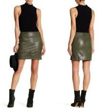 Romeo And Juliet Couture Size Chart Details About Romeo Juliet Couture Olive Green Faux Leather Embroidered Mini Skirt Small