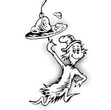 Small Picture Dr Seuss Coloring Pages Thing 1 And Thing 2 Clipart Panda Free