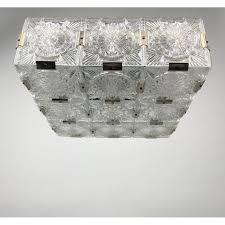vintage bohemian glass flush mount
