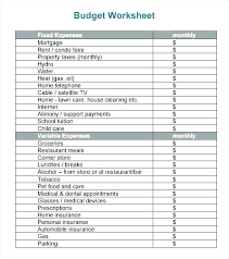 Basic Home Budget Template