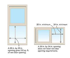Egress Window Size Chart