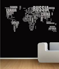 ritzy creative text world map vinyl wall stickers ritzy creative text world map vinyl wall stickers at best s in india on snapdeal