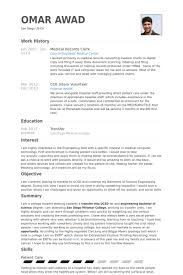 records clerk resumes medical records clerk resume samples visualcv resume samples