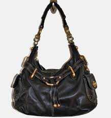 b makowsky black leather handbag