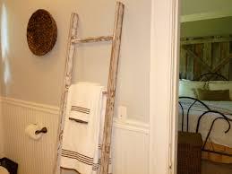 bathroom Bathroom Ladder Towel Rail Shelf Rack Wood Evoque Bamboo