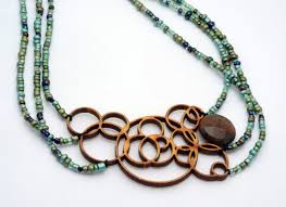 melanie lynn design 1 unique wooden jewelry beaded laser cut bamboo with agate