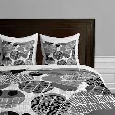 rachael taylor textured geo gray and black duvet cover twin twin xl com