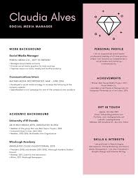 Creative Marketing Resume Pink Gray Minimal Creative Modern Resume Templates By Canva