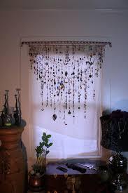 gypsy window veil diamond eye beaded boho curtain w ethnic india glass tribal metal beads rare copper upcycle scarf suncatcher