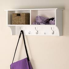 Wall Mounted Coat Rack With Hooks And Shelf Shop Prepac Furniture White 100Hook Wall Mounted Coat Rack at Lowes 50