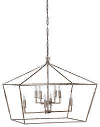 gabby amelia 8 light silver lantern chandelier