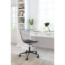 zuo wire black office chair