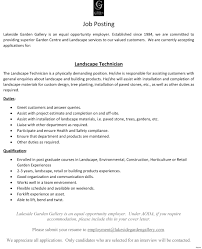 Landscaping Resume Examples Landscaping Job Resume Examples Therpgmovie 20