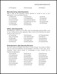 Keywords For Resumes Q House Pl