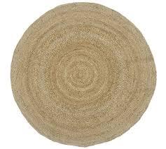 round jute rug natural