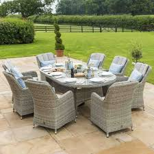 oxford 8 seat oval dining set and venice chairs
