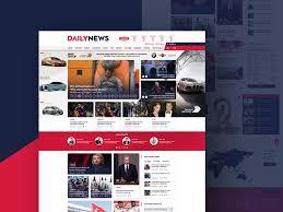 Newspaper Template Psd Dailynews Free News Site Ui Design 72pxdesigns