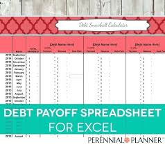 Debt Payoff Excel Pay Off Debt Calculator Excel Debt Snowball Excel Worksheet Snowball