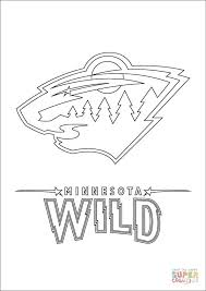 Small Picture Minnesota Wild Logo coloring page Free Printable Coloring Pages
