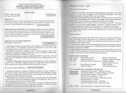 Resume Formatting Examples Mesmerizing Fancy One Page Or Page Resume About Page Resume Format Example