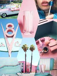 Vintage pink and blue 50's retro iPhone ...