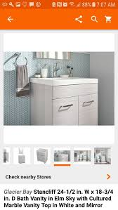 brand new in the box nuevos en caja glacier bay stancliff 24 in vanity combo with mirror 3 units 70 each at the 129 00 for in